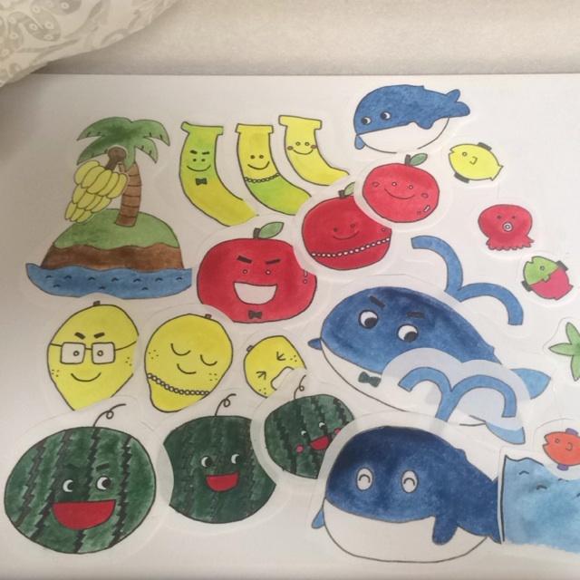 【アプリ投稿】パネルシアター バナナの親子