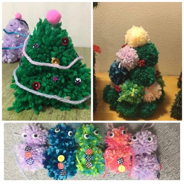 【アプリ投稿】毛糸ボンボンで クリスマスクラフト