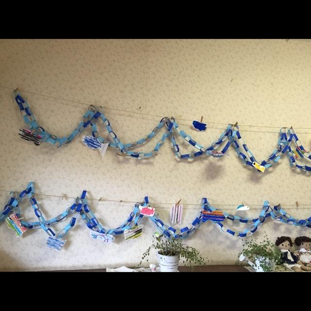 【アプリ投稿】魚釣りごっこ:壁面飾り