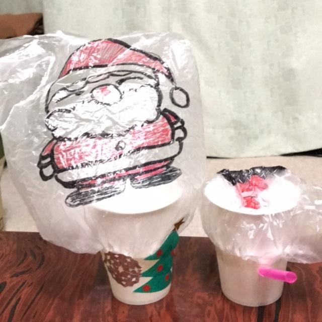 【アプリ投稿】【サンタさんが紙コップからこんにちは】