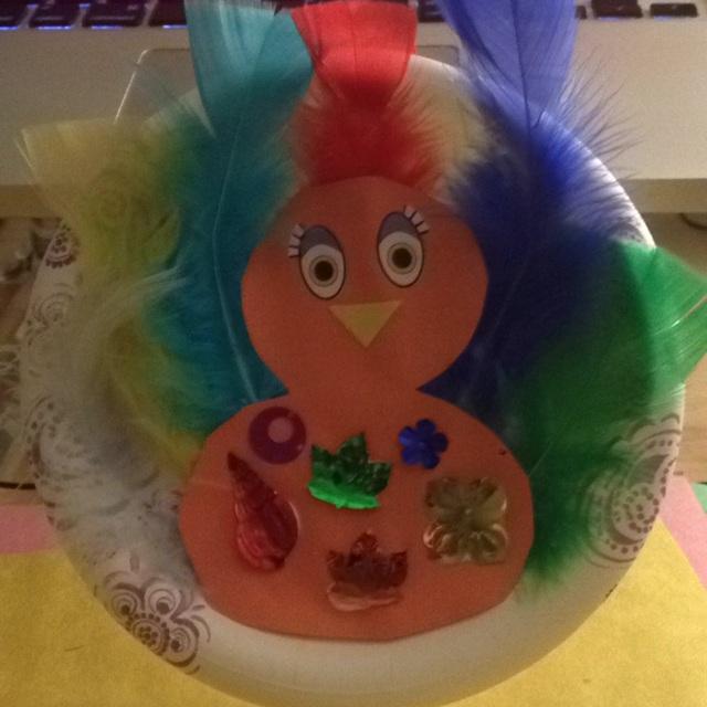 【アプリ投稿】紙皿の七面鳥(アメリカ合衆国、感謝祭テーマ)