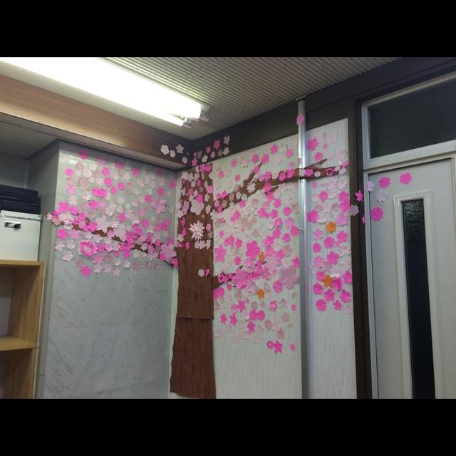 【アプリ投稿】4月の壁面桜の木