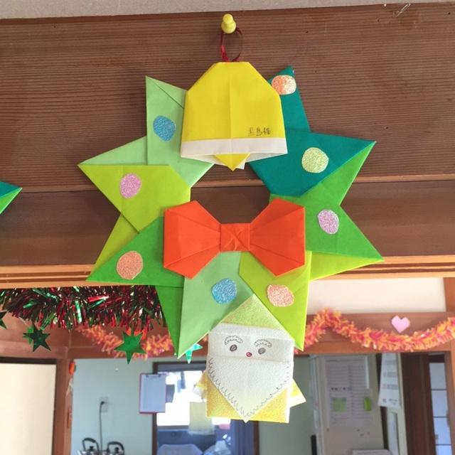 【アプリ投稿】折り紙クリスマスリース