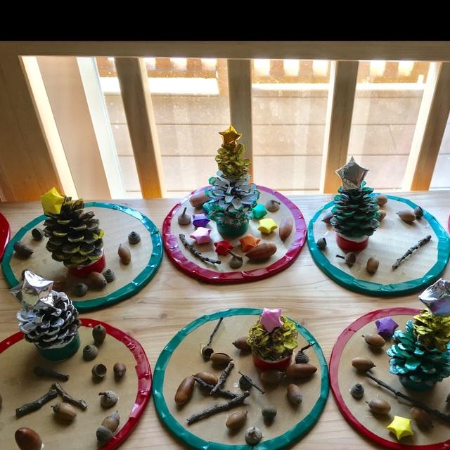 【アプリ投稿】まつぼっくりのクリスマスツリー