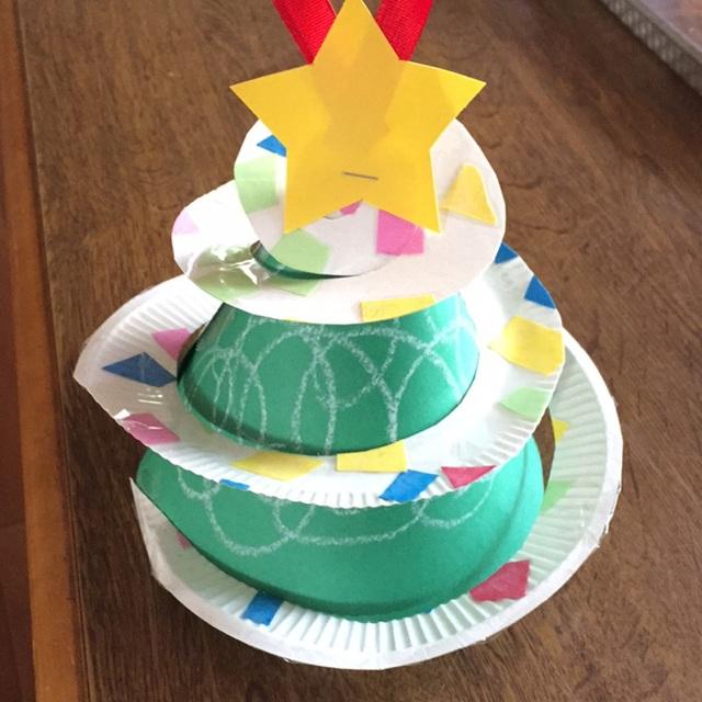 【アプリ投稿】クリスマスツリー(紙皿)