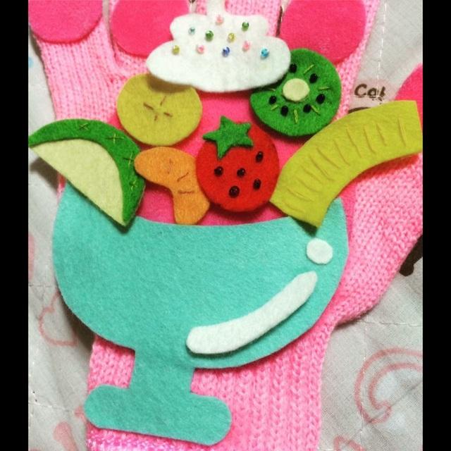 【アプリ投稿】『フルーツパフェ』手袋シアター♫