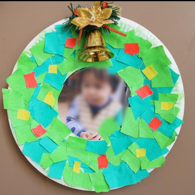 【アプリ投稿】紙皿クリスマスリース