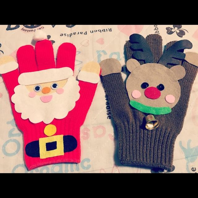 【アプリ投稿】【サンタ&トナカイの手袋シアター】