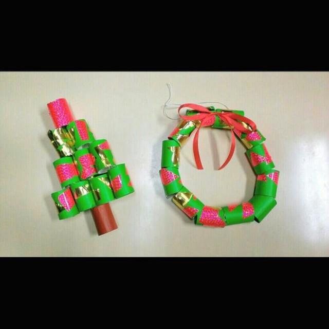 【アプリ投稿】クリスマスリースとツリー
