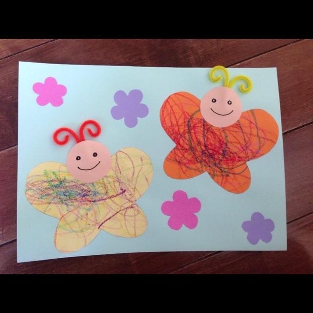 【アプリ投稿】【1歳児 4月製作 ちょうちょ】
