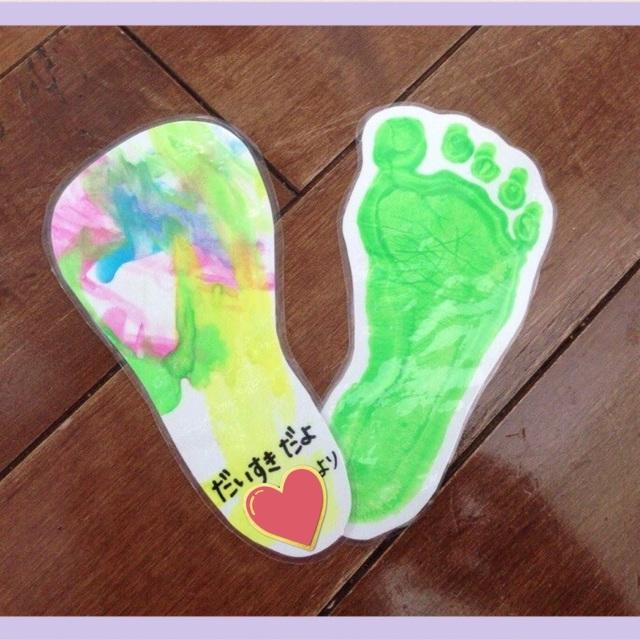 【アプリ投稿】【1歳児 母の日製作 足型しおり】