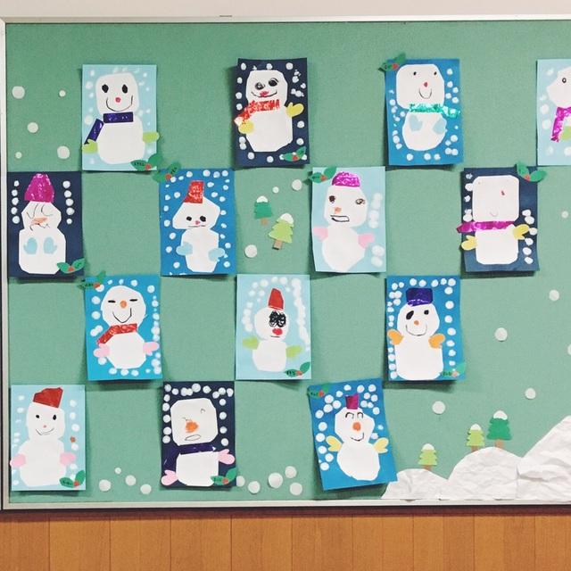 【アプリ投稿】壁面 雪だるま 年少組