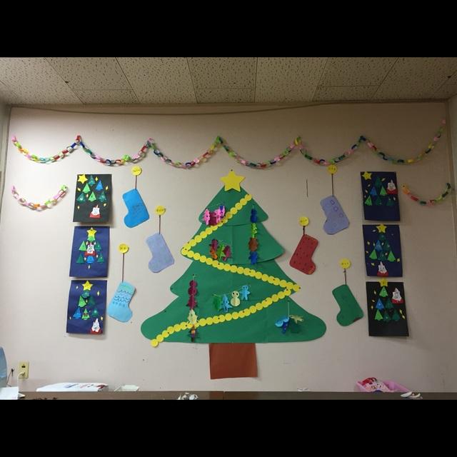 【アプリ投稿】【クリスマス壁面】輪飾り付け加え