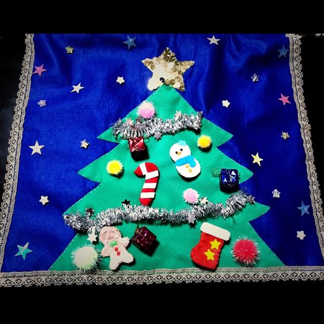 【アプリ投稿】【フェルトクリスマスツリー】