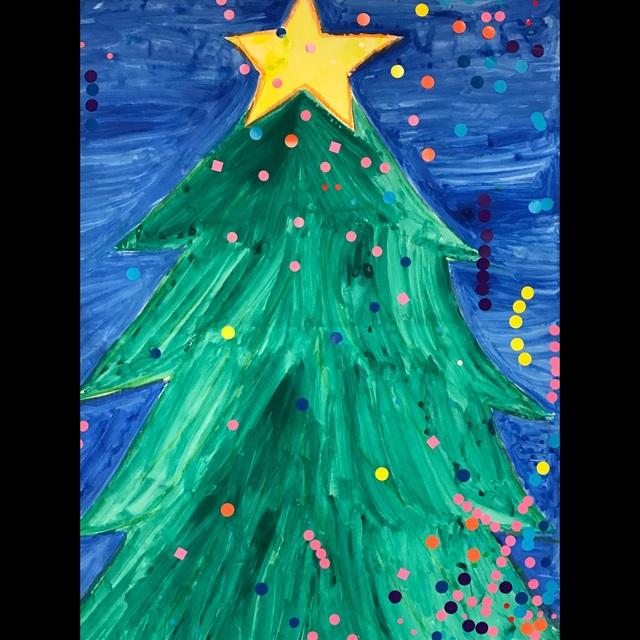 【アプリ投稿】【クリスマスツリー☆シール貼り遊び】