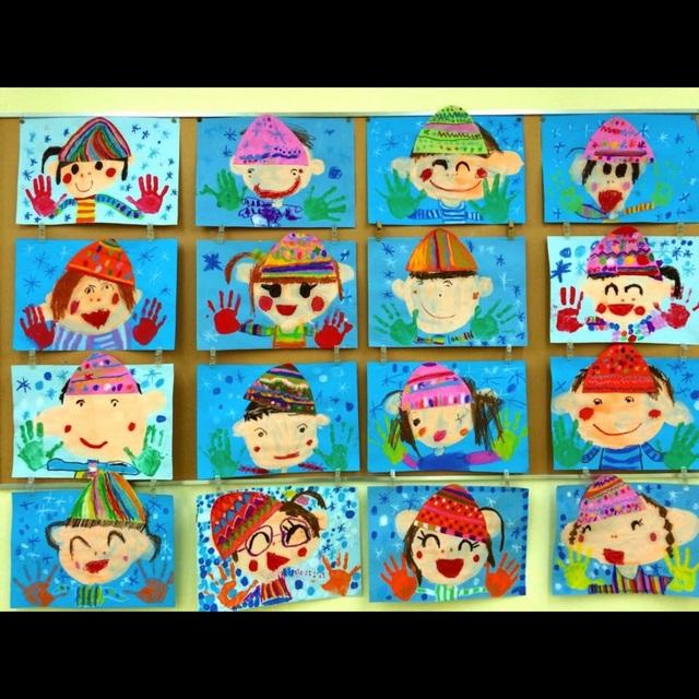 【アプリ投稿】2月壁面 4歳児