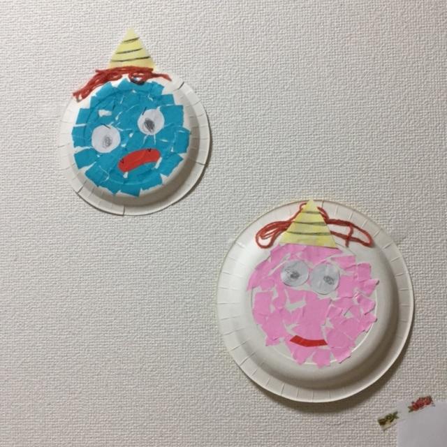 【アプリ投稿】【紙皿の鬼さん】