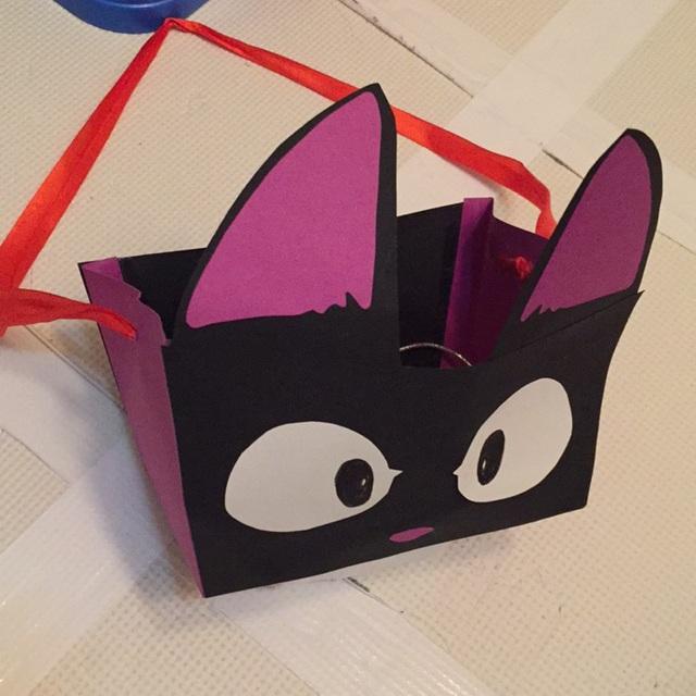 【アプリ投稿】厚紙で作ったハロウィン用のバッグ