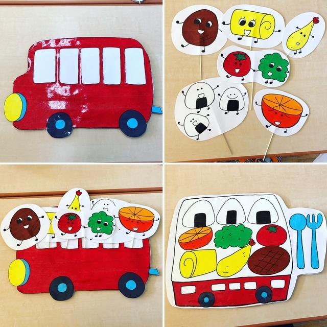 【アプリ投稿】おべんとうバスのペープサート!
