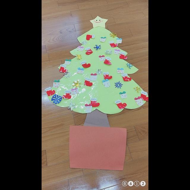 【アプリ投稿】12月の壁面 ◎クリスマスツリー