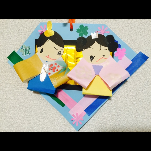 【アプリ投稿】ひな人形色紙、のり、マジック