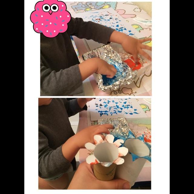 【アプリ投稿】水彩絵の具でスタンプ遊び