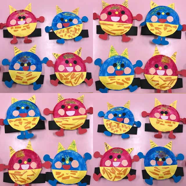 【アプリ投稿】3歳児 紙皿で作る鬼のお面