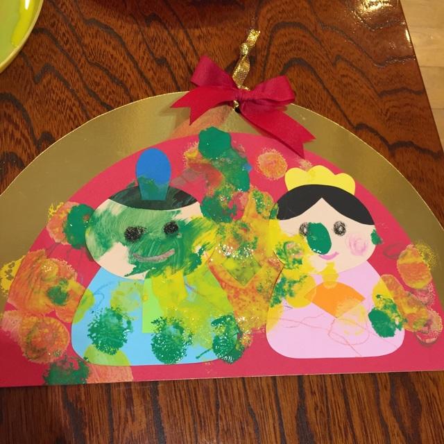 【アプリ投稿】2歳児作品ひな祭りの飾り