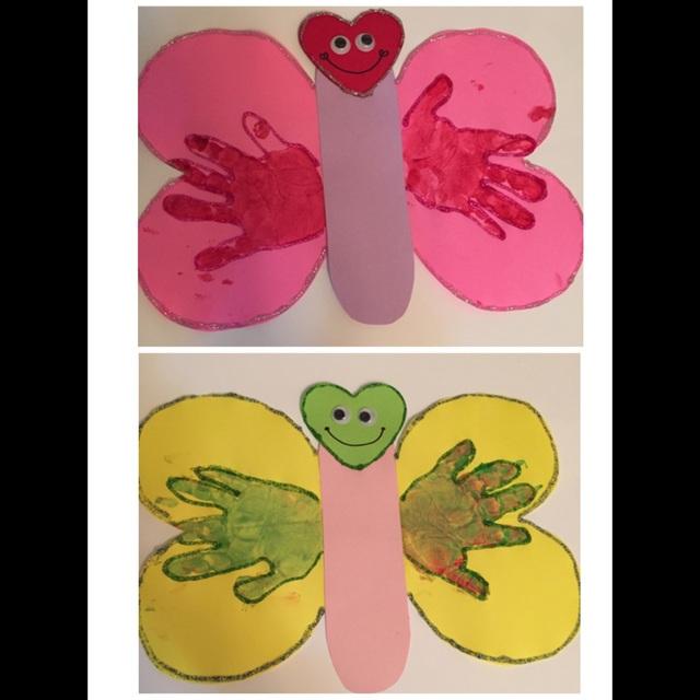 【アプリ投稿】手形で蝶々作り