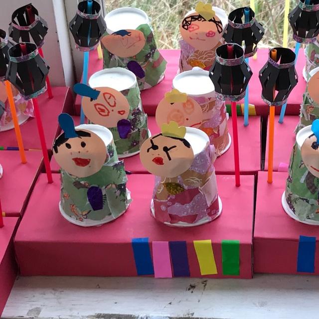 【アプリ投稿】紙コップ雛人形
