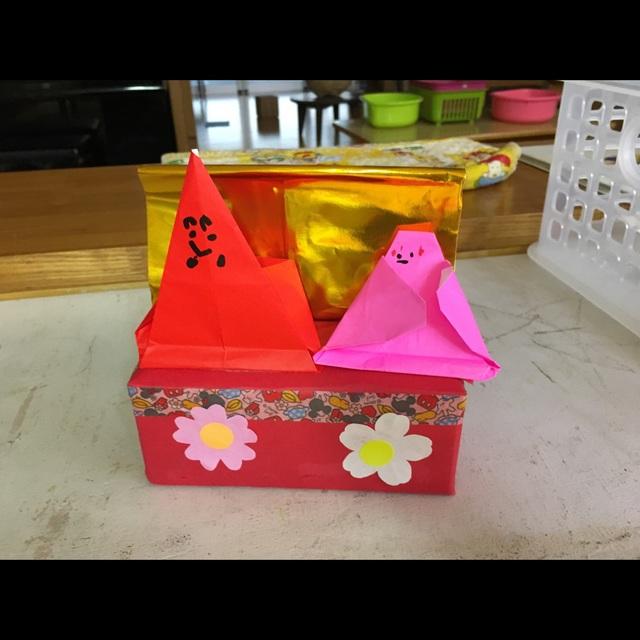 【アプリ投稿】3歳児。ひなまつり製作