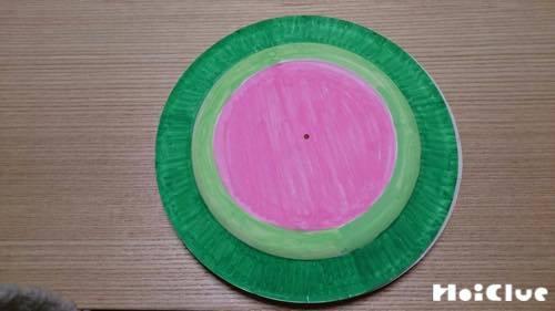 紙皿を中表に2枚貼り合わせた写真