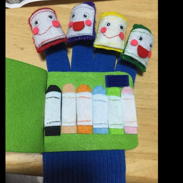 【アプリ投稿】『どんな色が好き〜?』の手袋シアター