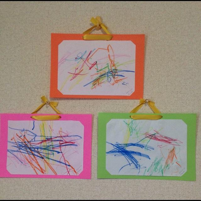 【アプリ投稿】0歳児今年度最後のお絵描き制作