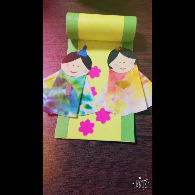 【アプリ投稿】ひな祭り製作•0歳児