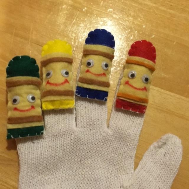 【アプリ投稿】手袋 手遊びどんないろがすき❤️