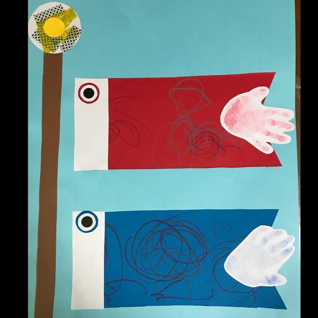 【アプリ投稿】鯉のぼり製作1才児