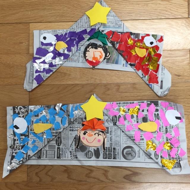 【アプリ投稿】5歳児 子どもの日かぶと制作