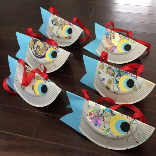 【アプリ投稿】紙皿で鯉のぼりの首飾り~♪