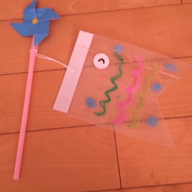 【アプリ投稿】2歳児 クリアファイルのこいのぼり