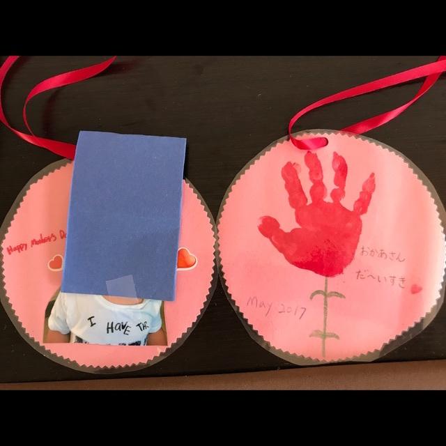 【アプリ投稿】【母の日製作】0歳児手形