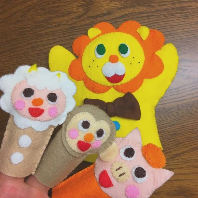 【アプリ投稿】指人形とパペット♪