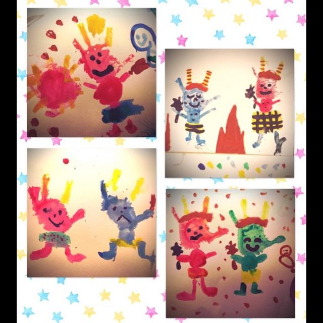 【アプリ投稿】絵画 手形アート 5歳児