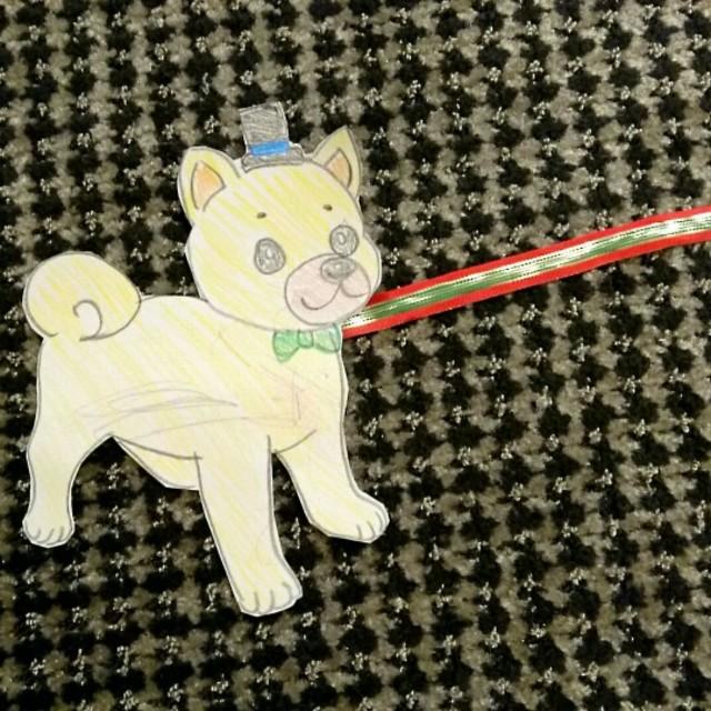 【アプリ投稿】★紙犬散歩(2歳児用)