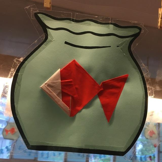 【アプリ投稿】金魚4歳児 折り紙