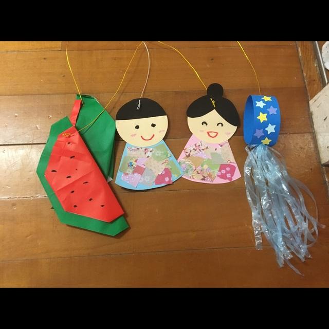 【アプリ投稿】3歳児 七夕飾り