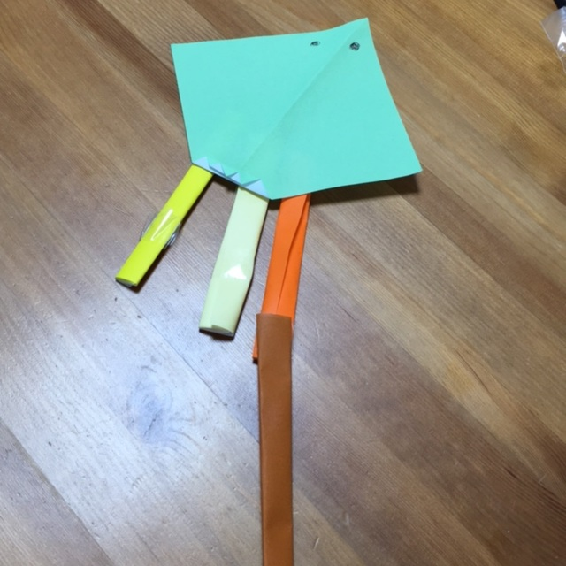 【アプリ投稿】たこ 4歳 折り紙