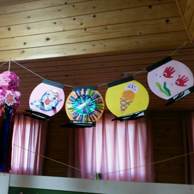 【アプリ投稿】夏祭りに飾った製作