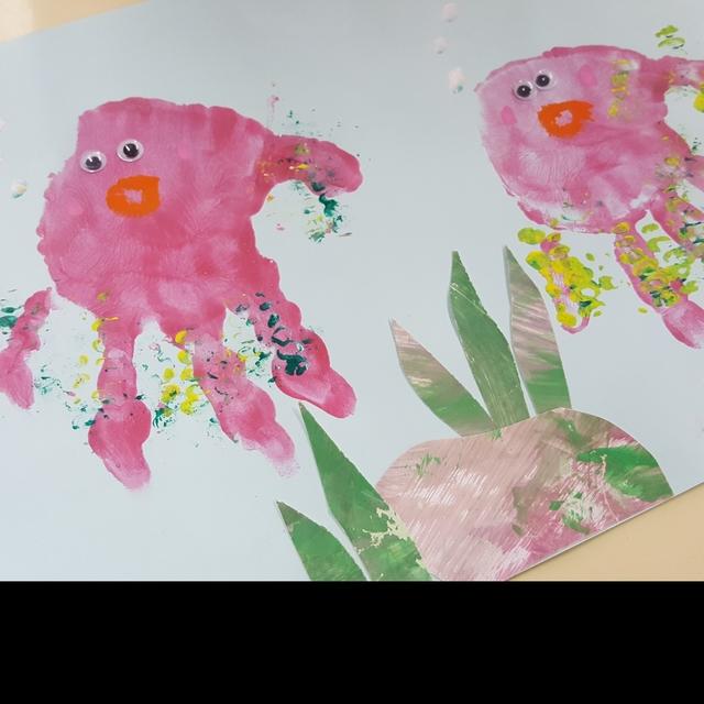 【アプリ投稿】手形  海の生き物