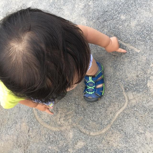 【アプリ投稿】砂にお絵描き#2歳